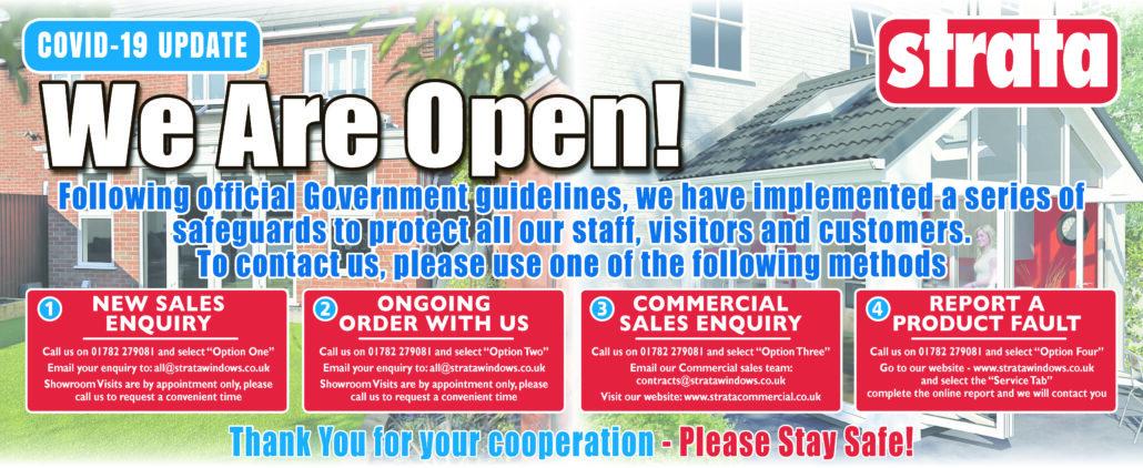 Strata Windows - We are open